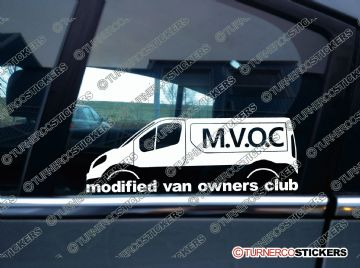 MVOC modified van owners club sticker - for Nissan Primastar |  TVP